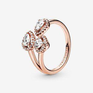 😋Pandora  Geometric Shapes Open Ring